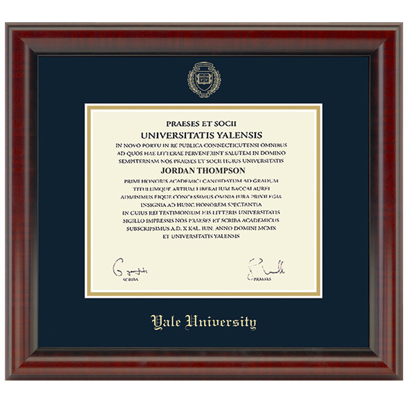 Yale Fidelitas Diploma Frame At M Lahart Amp Co