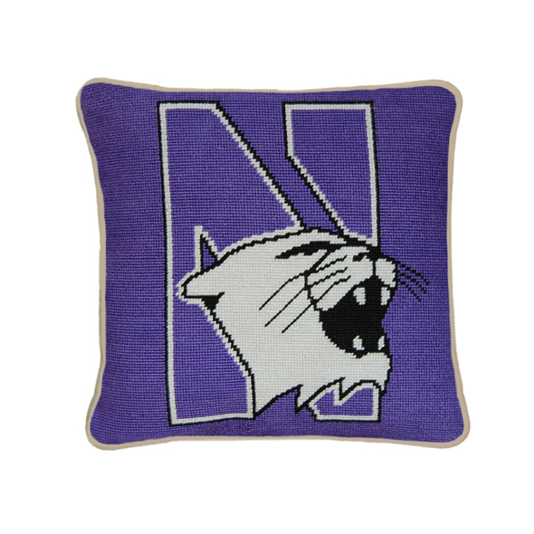 Northwestern Handstitched Pillow At M Lahart Amp Co